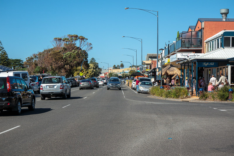 Australia-Cape Otway-Apollo Bay-Lorne - Street full of Chinese restaurants which due to COVID now have about, zero customers.