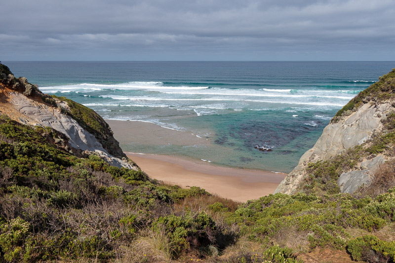 Australia-Cape Otway-Twelve Apostles-Port Campbell - Not having done enough Great Ocean Walk yet, I walked along it a bit from Castle Cove and took this photo. That's pretty exciting right?