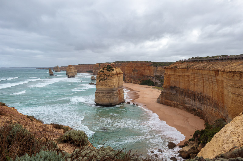 Australia-Cape Otway-Twelve Apostles-Port Campbell - OK, now I count 5 or 6. There are still at least 6 missing.