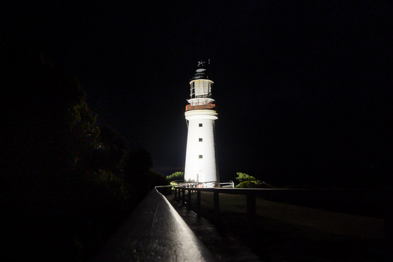 Australia-Cape Otway-Lighthouse-Night - Giant white phallus