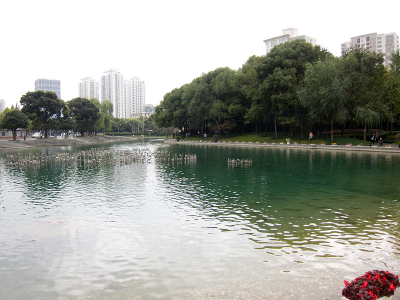 China-Shanghai-Xintandi-Museum - The park has a nice lake, actually theres a lot of parks in central Shanghai and they are all immaculate. Most have lakes, presumably artificial, and
