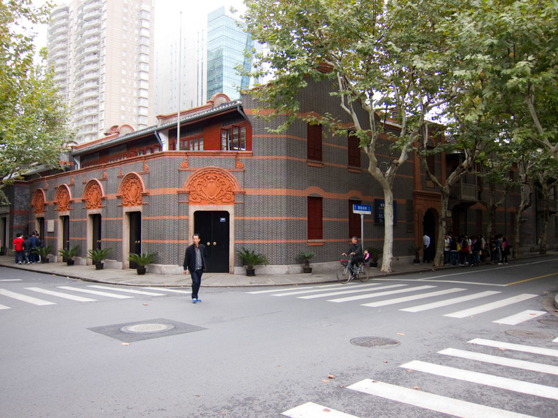 China-Shanghai-Xintandi-Museum - An example of restored (rebuilt) ancient neighbourhood housing.