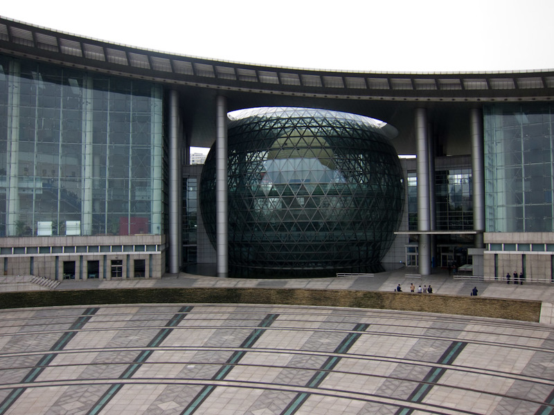 China-Shanghai-Science-Museum - The outside of the museum, its a very large building, my lense wasnt nearly wide enough.