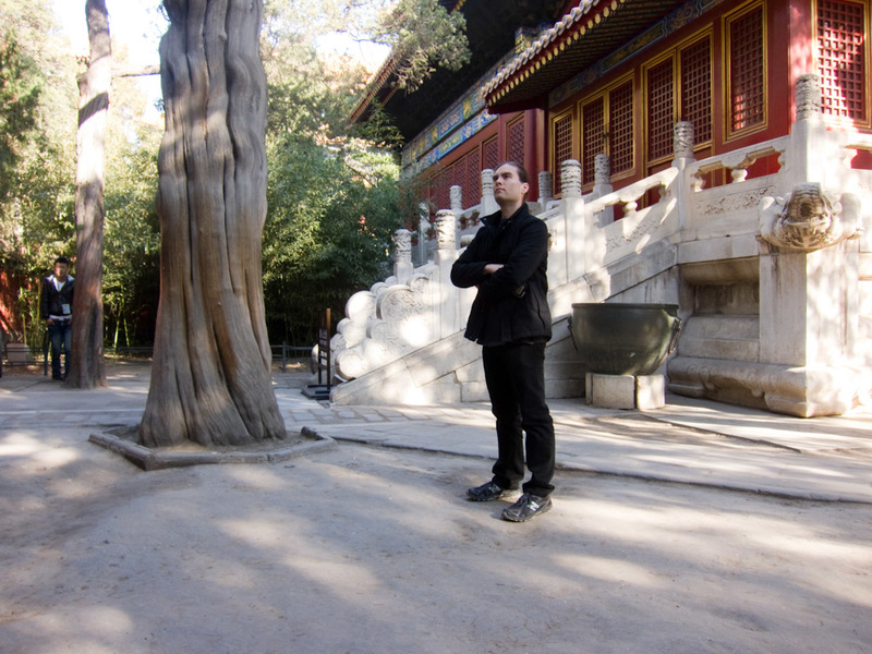 China-Beijing-Forbidden City - I look like a secret agent in a bad movie. If I just had an earpiece and pistol with a silencer.