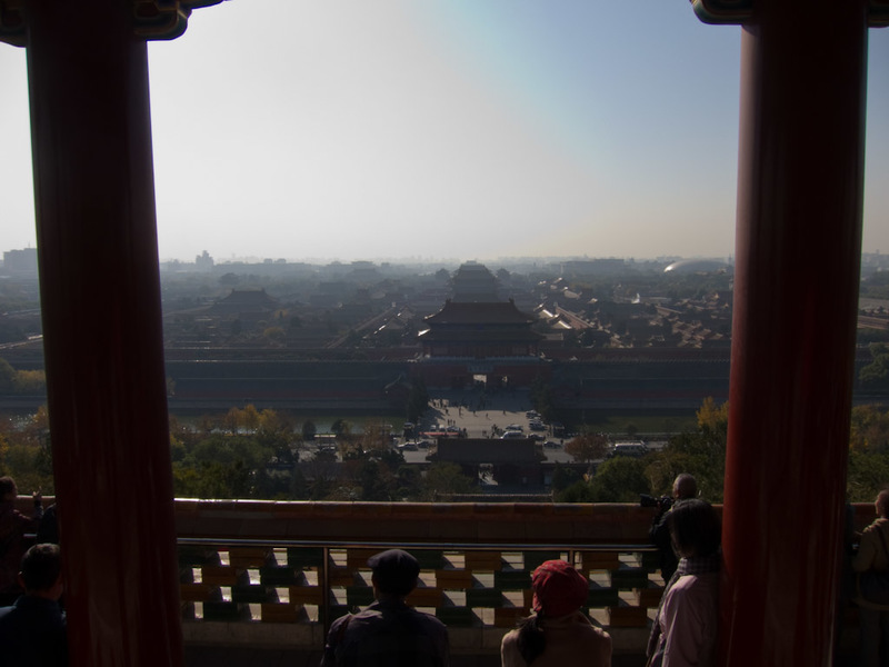 China-Beijing-Forbidden City - Excellent view, very difficult light, should be up here at dusk not dawn. I can also tell from here that there is pollution haze, but compared to pict