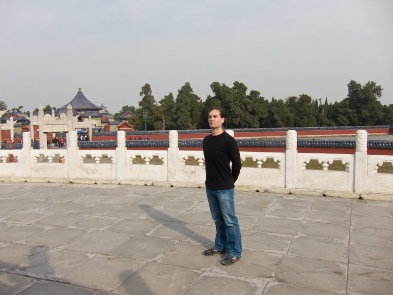 China-Beijing-Temple of Heaven - Its me! It is a bit cooler today due to lack of sun, but no jacket is required.