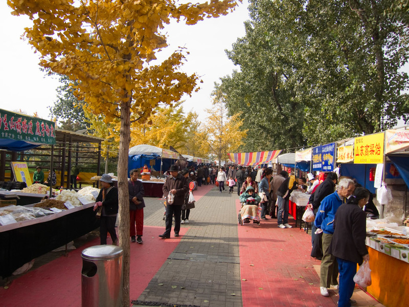 China-Beijing-Temple of Heaven - After leaving the compound, I got lost looking for the subway, and ended up at this street market in the middle of nowhere. These sorts of things only