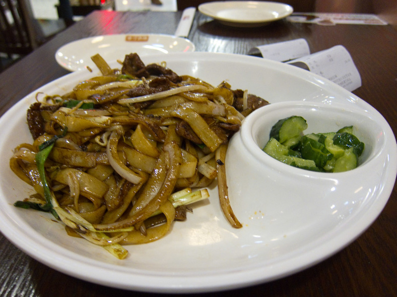 China-Badaling-Great Wall-Train - My lunch, some rice noodles with massive amounts of delicious MSG.