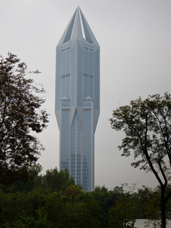 China-Shanghai-Xujiahui-Mall - I like this building a lot. I would love to go up the top where those glass pyramids pointing skywards are.