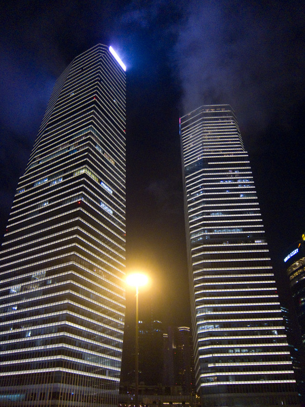 China-Shanghai-Pudong-Beef-Neon - Twin towers.
