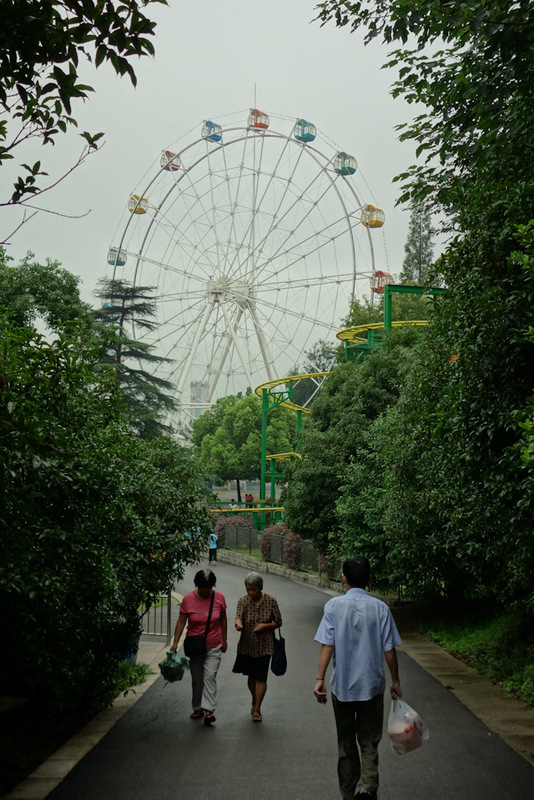 China-Nanjing-Zoo-Amusement Park - This ferris wheel is not worthy of my attention. Plus I would want someone else to ride on it first to prove it hasnt decayed to the point of collapse