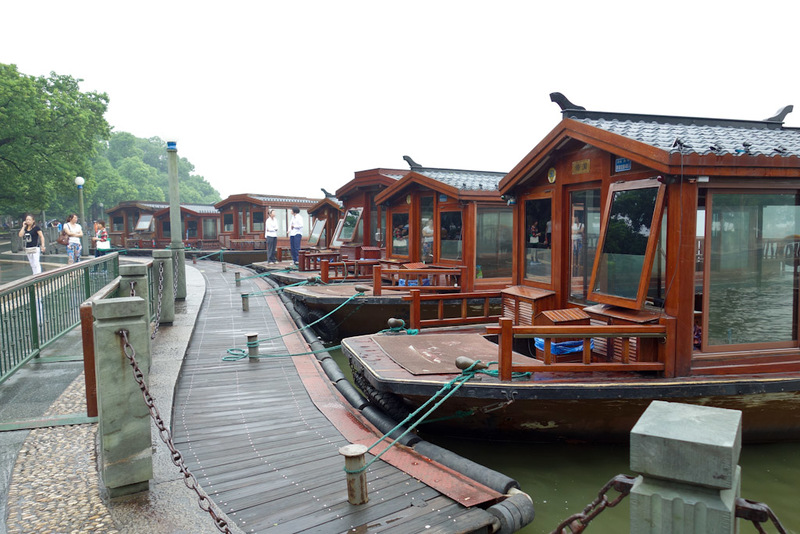 China-Hangzhou-West Lake-Fog - There would have to be 1000 or more wooden boats available, in all shapes and sizes.