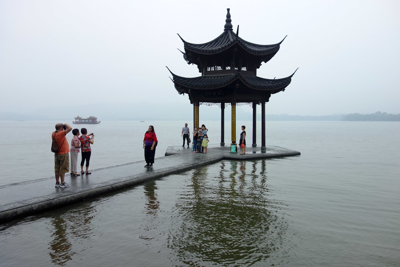China-Hangzhou-West Lake-Fog - 'A floating symbol of virility springs forth eternally from whence upon a dream it beheld motionless'