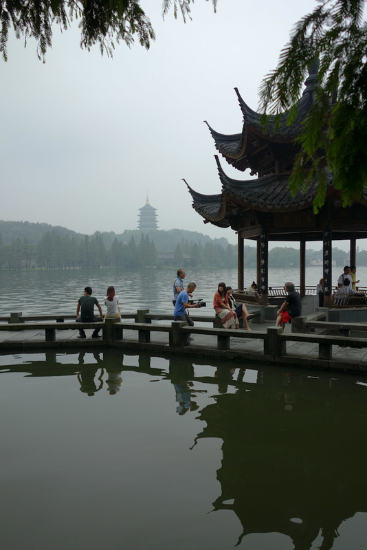 China-Hangzhou-West Lake-Fog - There are 3 proper pagodas, as can be seen in the background here. I think they have all been rebuilt though.