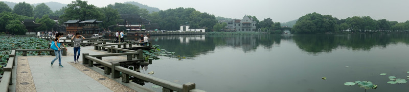 China-Hangzhou-West Lake-Fog - The second panorama.  Not sure what I will do tonight, legs are sore!
