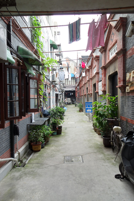 China-Shanghai-Station - This alleyway and the museum off to the right is the site of the First communist youth league. In the early 1900's they went to Beijing and protested