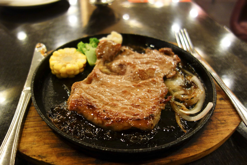 China-Hangzhou-Market - I chose my dinner purely to see what it would be! It said Aussie sirloin steak on the menu. What came was actually ok. It was on a hot plate already c