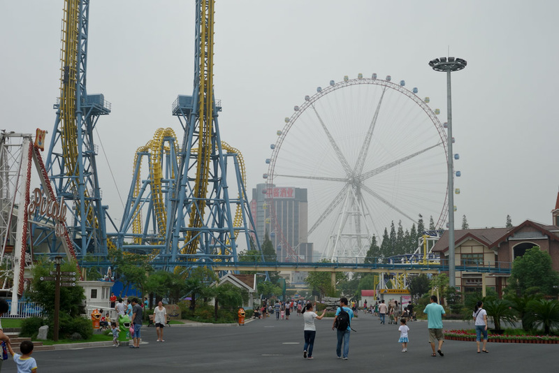 China-Shanghai-Museum-Amusement Park - Nearby, an amusement park, out here in the suburbs. Not my kind of thing but I havent been on a holiday yet where I dont go on a ferris wheel. Heres m