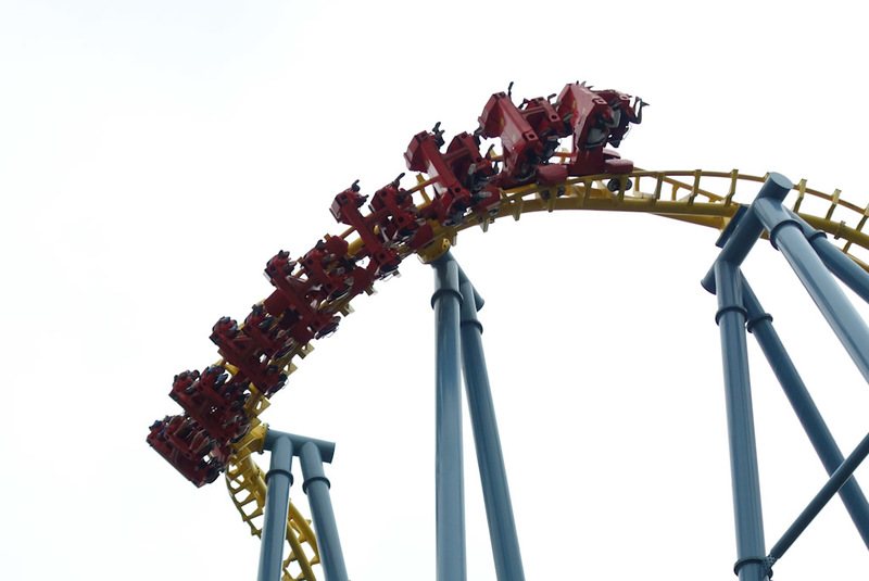 China-Shanghai-Museum-Amusement Park - Similar story with this roller coaster. The actual ride lasted about 30 seconds.