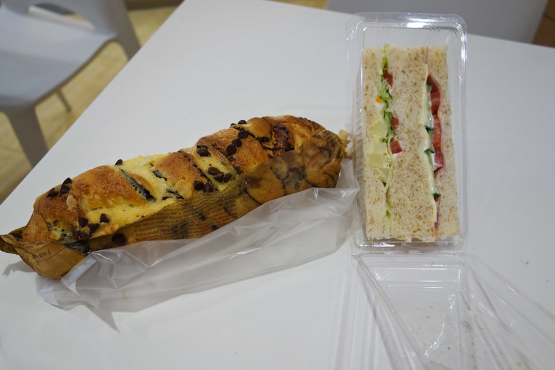 China-Shanghai-Expo-Ferry - My lunch, surprised? A sandwhich with the crust cut off. I was starving and this place had seats. I regretted my decision immediately after when I tur