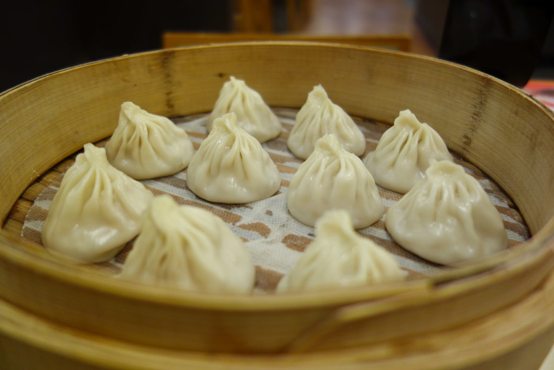 China-Shanghai-Chilli-Dumplings - Descending into the metro and there was a fancy underground mall with an excellent looking Xiao Long Bao place, and they were indeed excellent. I only