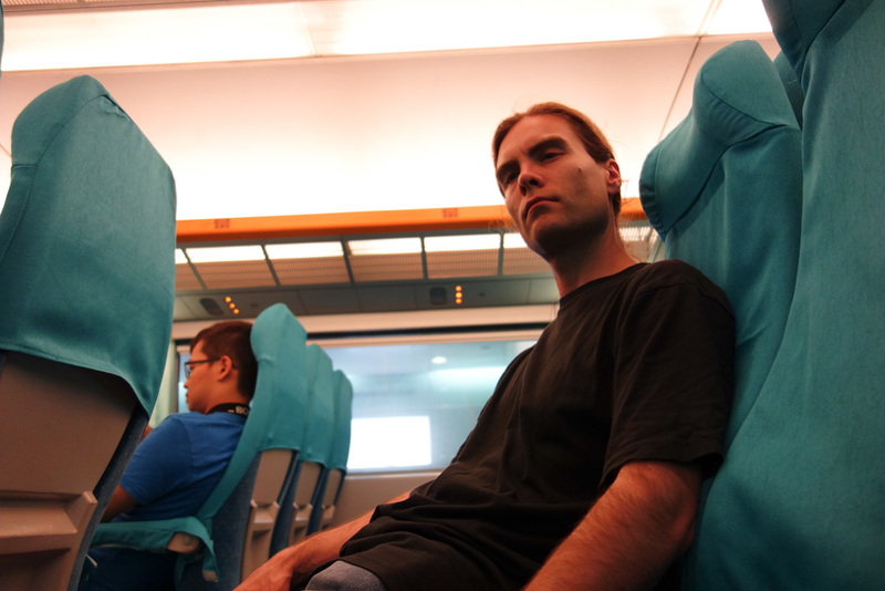 China-Shanghai-Airport-Nanjing Road - Here I am, on the Maglev. I rode it last time too so didnt bother with photos, just photos of me, looking thrilled.