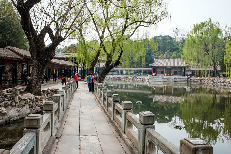 China-Beijing-Summer Palace - This is another garden, I forget its name, something harmonious. There were goldfish.