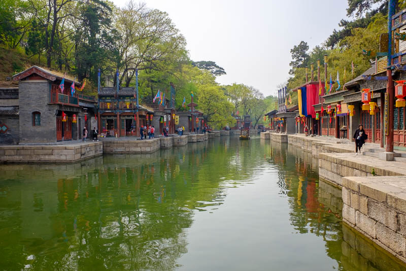 China-Beijing-Summer Palace - A bit more Suzhou street, I wonder how many people fall in when this place is crowded? There is no guard rail and the path is very narrow in places.