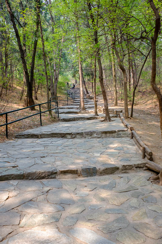 China-Beijing-Fragrant Hills-Hiking - This is what China calls a hiking path. Everywhere was this quality of path, even paths where I saw no one for hours which I assume are never used. Th