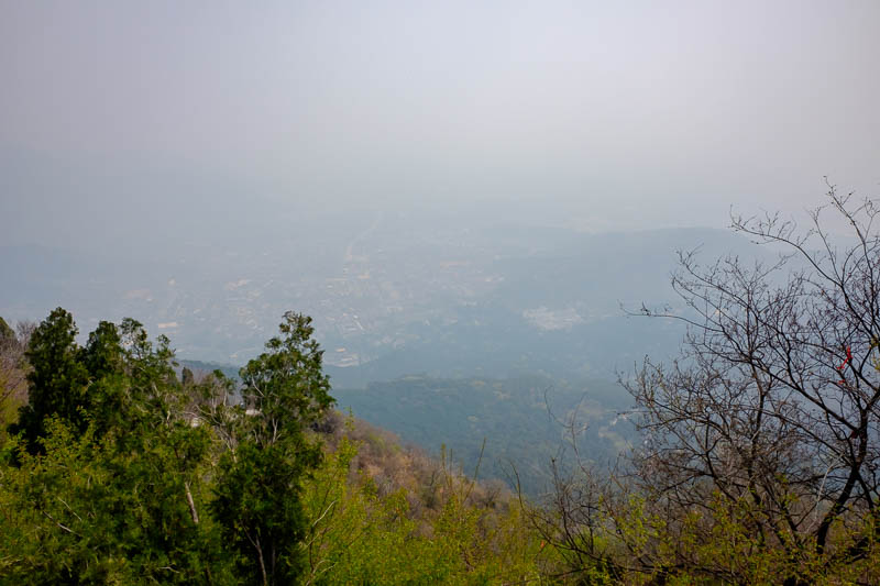 China-Beijing-Fragrant Hills-Hiking - Summit view.