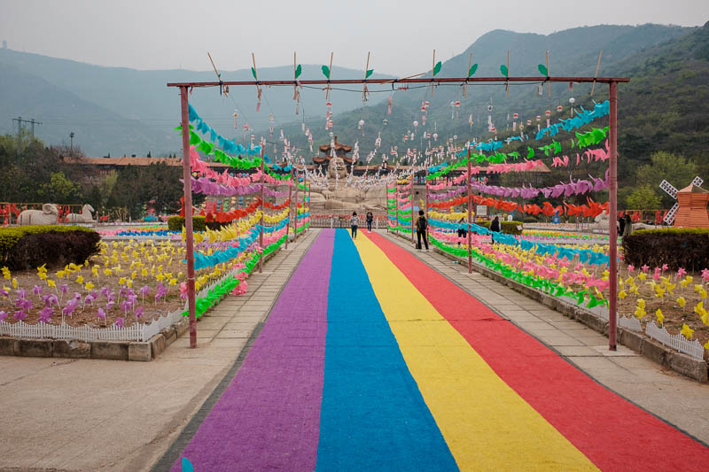 China-Beijing-Mangshan-Hiking-Bus - And here is the fat Buddha, celebrating diversity with his love of homosexuals and their rainbows. Actually for whatever reason it was the first annua