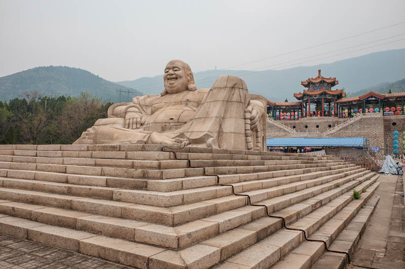 China-Beijing-Mangshan-Hiking-Bus - Thats a bit more of Buddha, he told me to hurry up and climb the damn mountain.