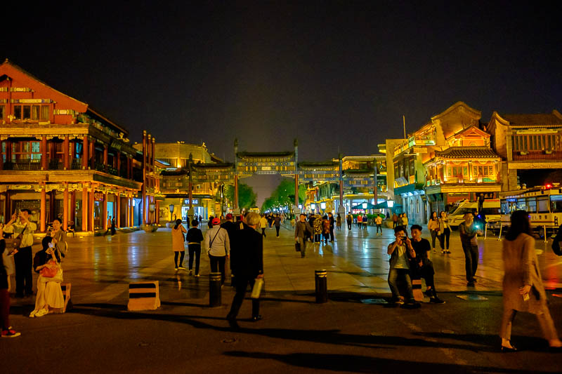 China-Beijing-Tiananmen Square-Qianmen - The entrance to Qianmen shopping street.