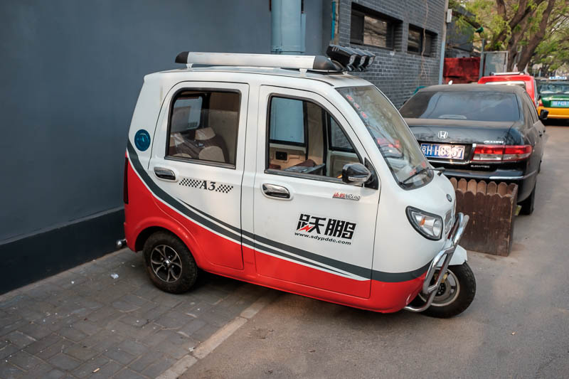China-Beijing-Zhengzhou-Bullet Train - If a taxi isnt terrifying enough, you can go in a 3 wheeled electric motorbike taxi. Most of the time they dont tip over.