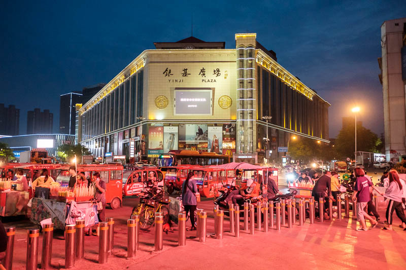 China-Zhengzhou-Mall-Pedestrian Street-Food - This is also a wholesale clothing market. It was also shut. I then realised there was a whole other world under me, and that crossing the street in th