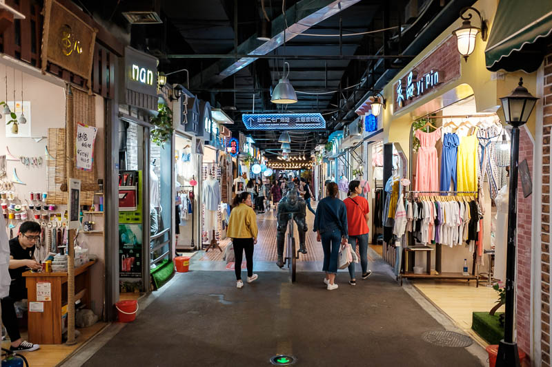 China-Zhengzhou-Mall-Pedestrian Street-Food - I descended into the underground, and wandered around a very long maze of little stores and people mingling about doing what they could to avoid what