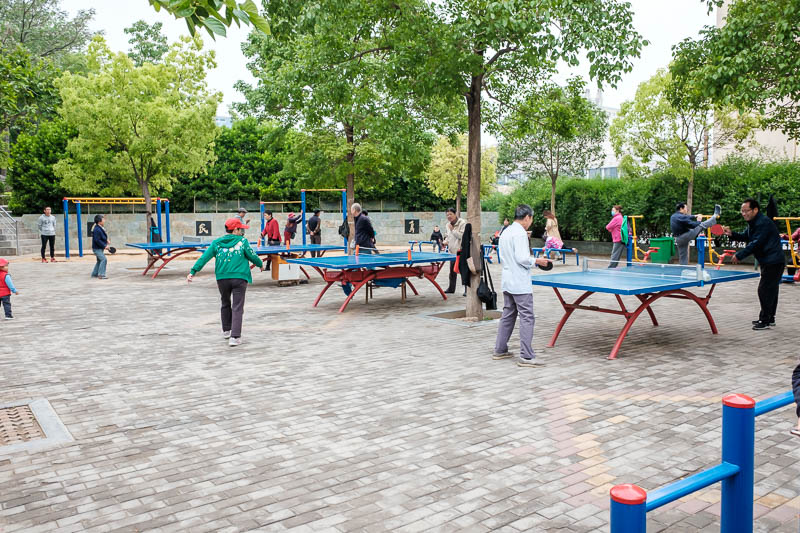China-Zhengzhou-Park-Mall-Walk - I beat all these Chinese people at ping pong.