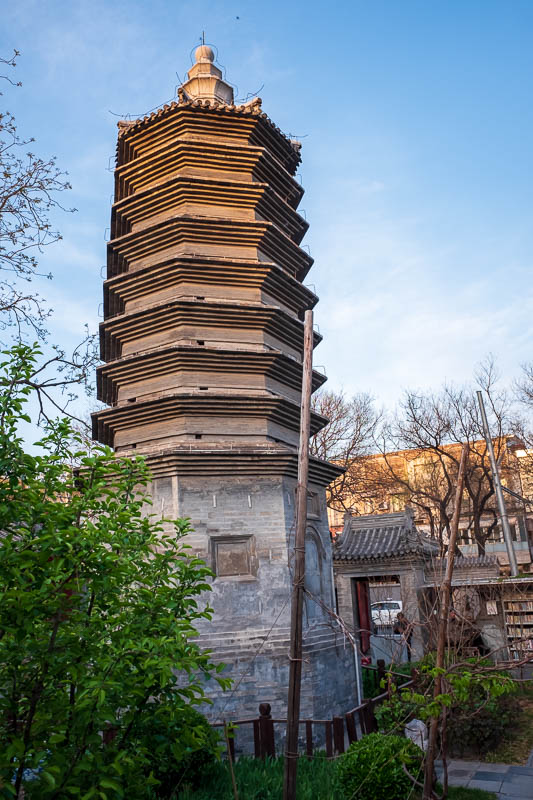 China-Beijing-Xidan-Food - I wandered into the Yang Rou Hutong, literally - Lamb Meat Neighborhood. Their leisure centre has a pagoda. Actually all around it was some recently r