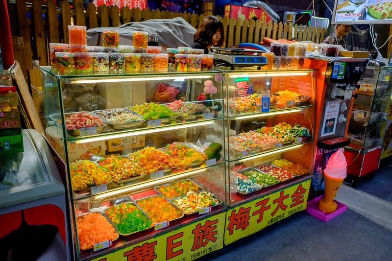 China-Zhengzhou-Food-Mall - To placate my hunger I decided to purchase some ancient mixed lollies, I think I was the first person to ever buy any.