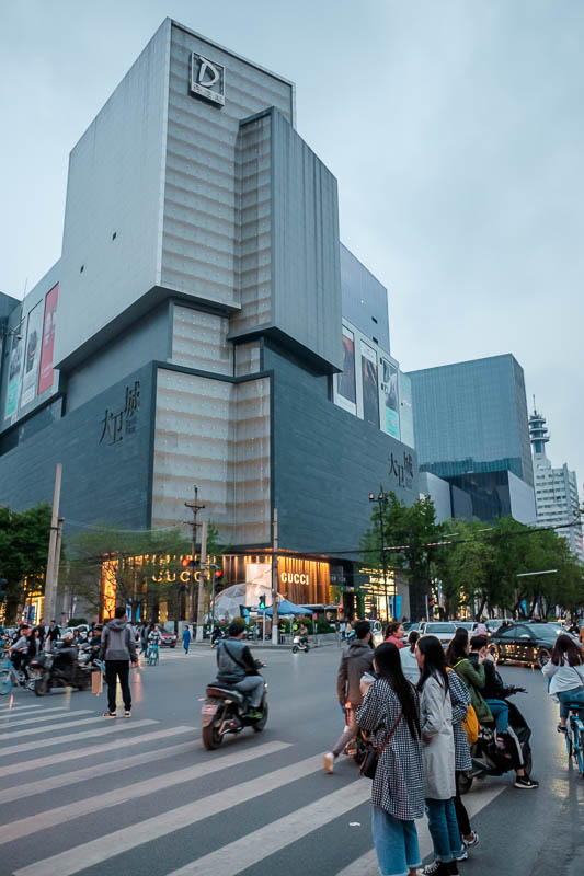 China-Zhengzhou-Food-Mall - And there she is, isnt she beautiful? DAVID PLAZA! Why is it a she if its named David? The English language is stupid.