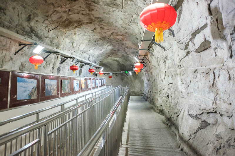 China-Hiking-Rain-Huashan-Soldiers Path - I broke into the construction zone and explored the new tunnel to where I guess the updated cable car will leave from. Thats enough use of the term 'c