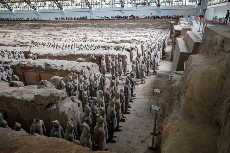 China-Xian-Terracotta Army - It was really not crowded at all, I could get a spot on the fence immediately. Very surprising given all the stories I had read. Some people who came