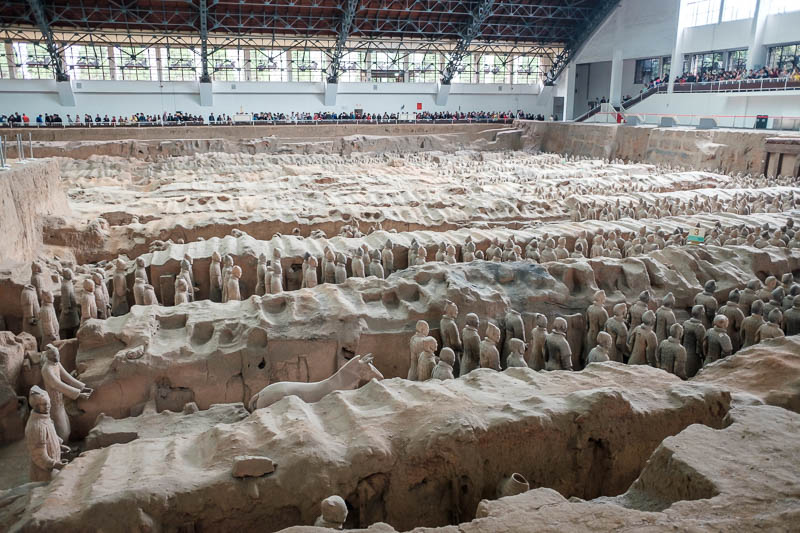 China-Xian-Terracotta Army - Here is a horse. Apparently there were also wooden chariots but they all rotted.