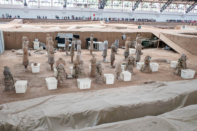 China-Xian-Terracotta Army - I think there is still a lot of excavation and restoration going on. This is still the main pit, there are 3 pits to visit, but its really only the bi