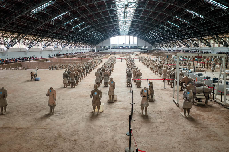China-Xian-Terracotta Army - None of these are in their original positions.