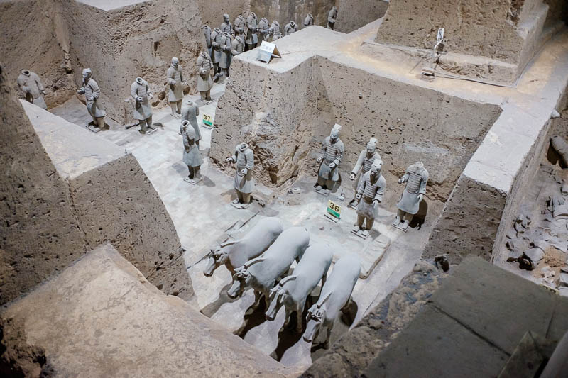 China-Xian-Terracotta Army - I am pretty sure these were placed in here.