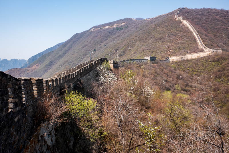 China-Great Wall-Mutianyu - A particularly steep section to come. I had lost most of the vocal fry suffering wealthy USA church group / high school by now. They had been replaced