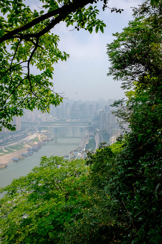 China-Chongqing-View-Erling Park-Testbed 2 - Thats a different river on the other side of the tall green spine.