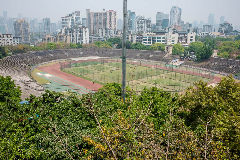 China-Chongqing-View-Erling Park-Testbed 2 - To end my day out, I descended into this stadium and ran a few laps.