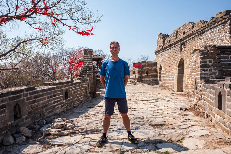 China-Great Wall-Mutianyu - Me. I was sweating. It was hot and the stairs are steep and I did it without stopping to rest at all. Wheres my medal?